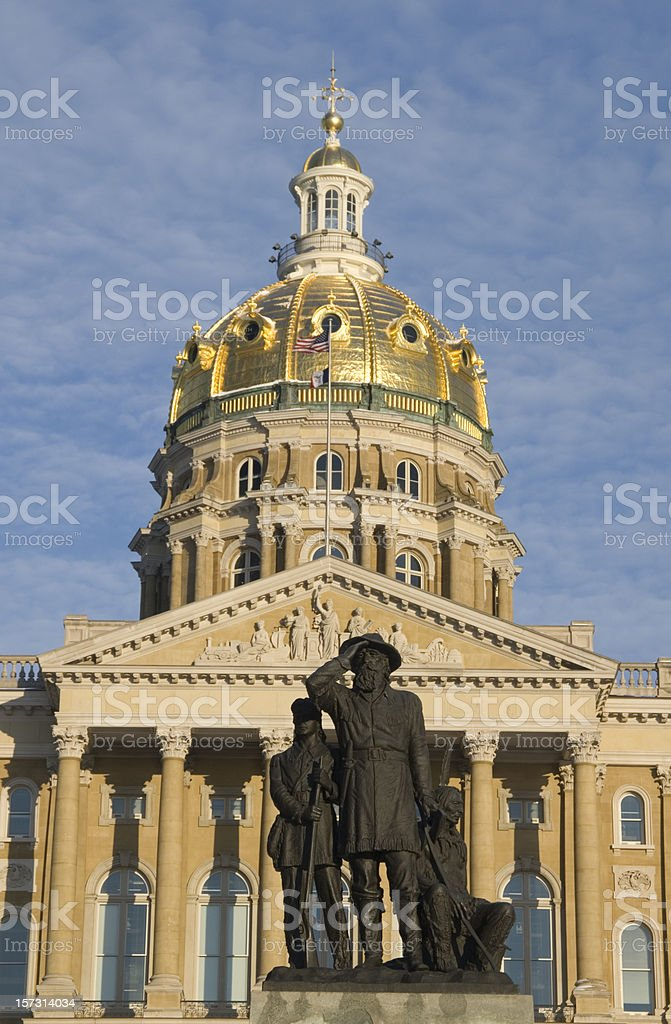 State Capitol Buillding, Des Moines, Iowa stock photo