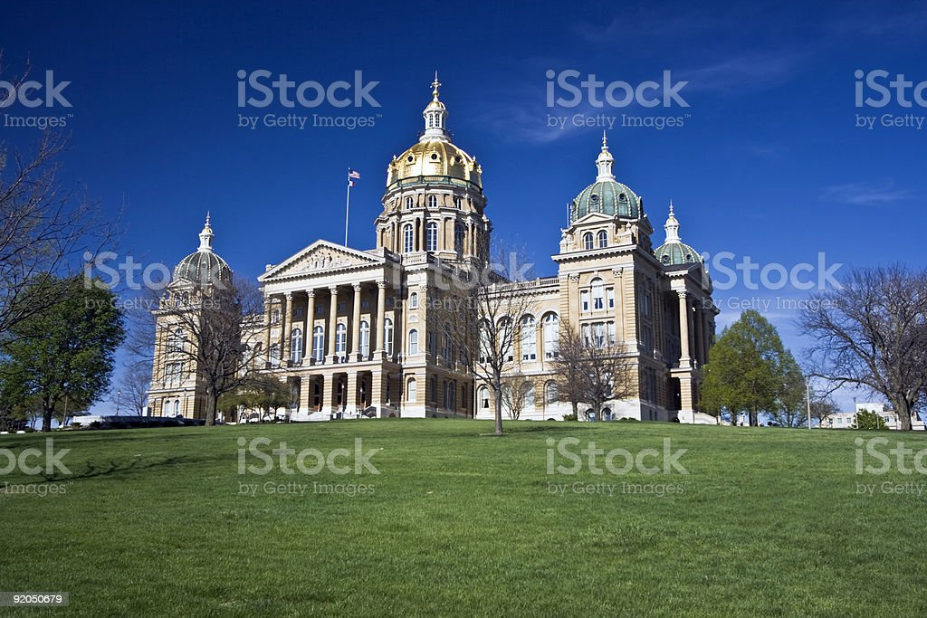 State Capitol in Des Moines - Iowa stock photo