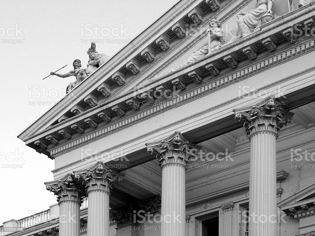 State Capitol (of California) in Sacramento (B&W) royalty-free stock photo