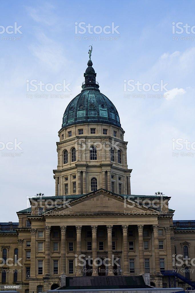 State Capitol of Kansas royalty-free stock photo