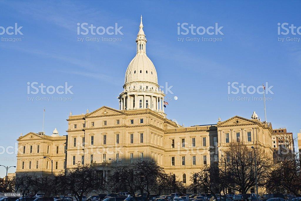 State Capitol of Michigan stock photo