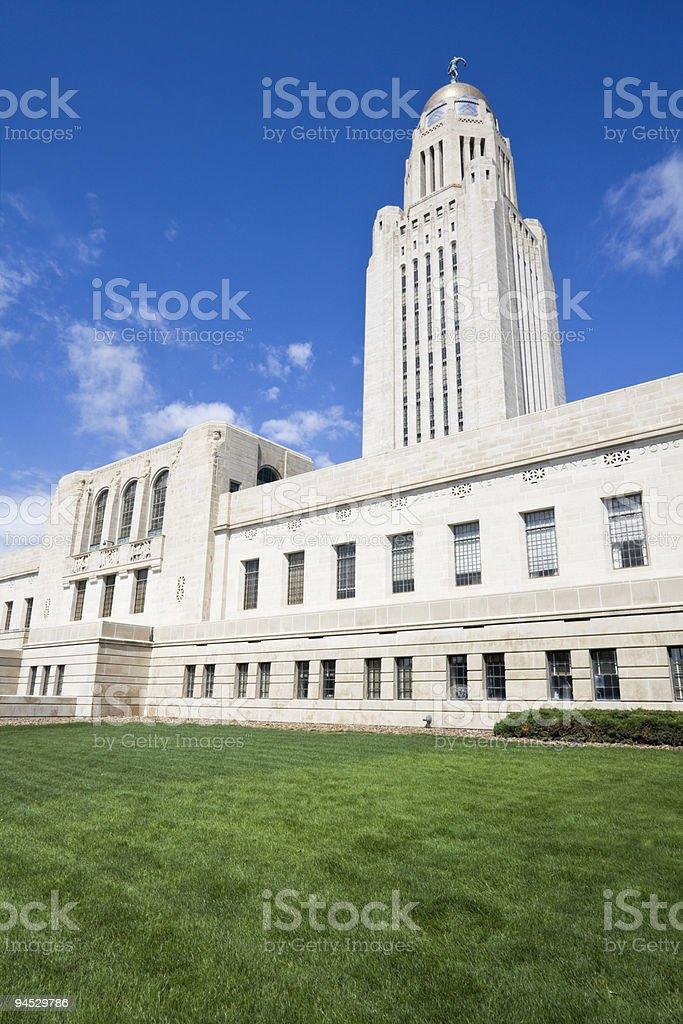 State Capitol of Nebraska in Lincoln royalty-free stock photo