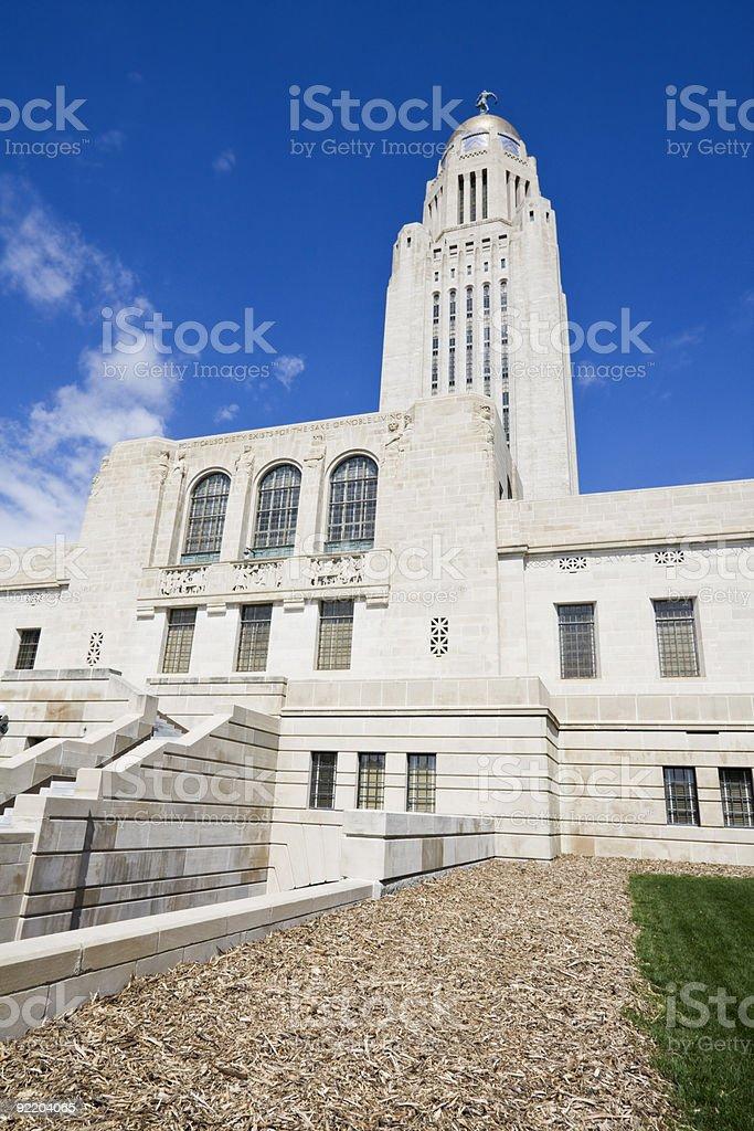 State Capitol of Nebraska royalty-free stock photo