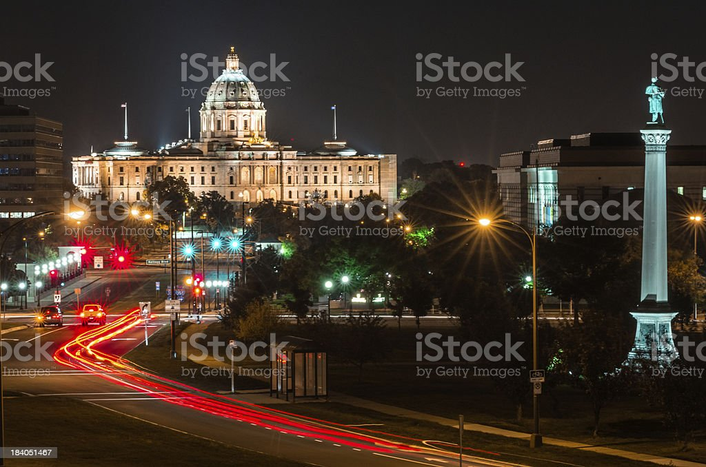 State Capitol of St Paul stock photo