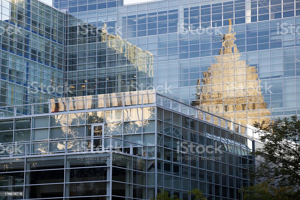 State Capitol of Wisconsin reflected stock photo