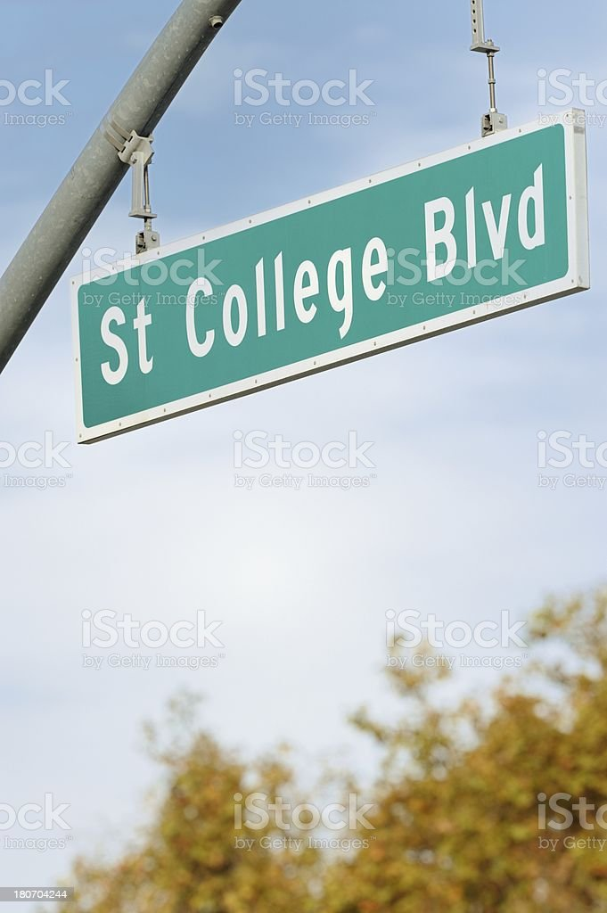 State College Boulevard sign royalty-free stock photo