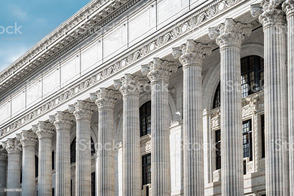 State Education Building a Landmark of Albany New York USA stock photo