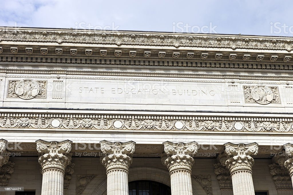 State Education Building In Albany, New York royalty-free stock photo