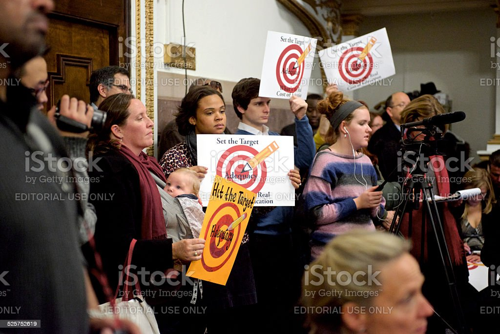 State Education Funding Commission hearing at Philadelphia stock photo
