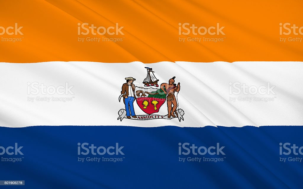 State Flag of Albany stock photo