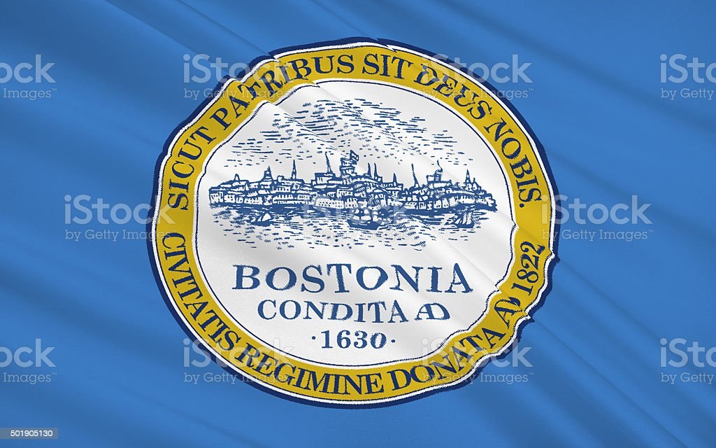 State Flag of Boston stock photo
