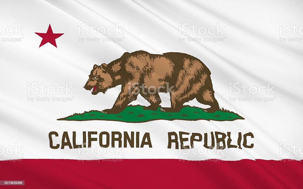 State Flag of California stock photo
