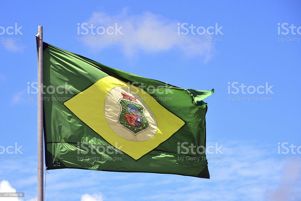 State flag of Cear? - Brazil stock photo