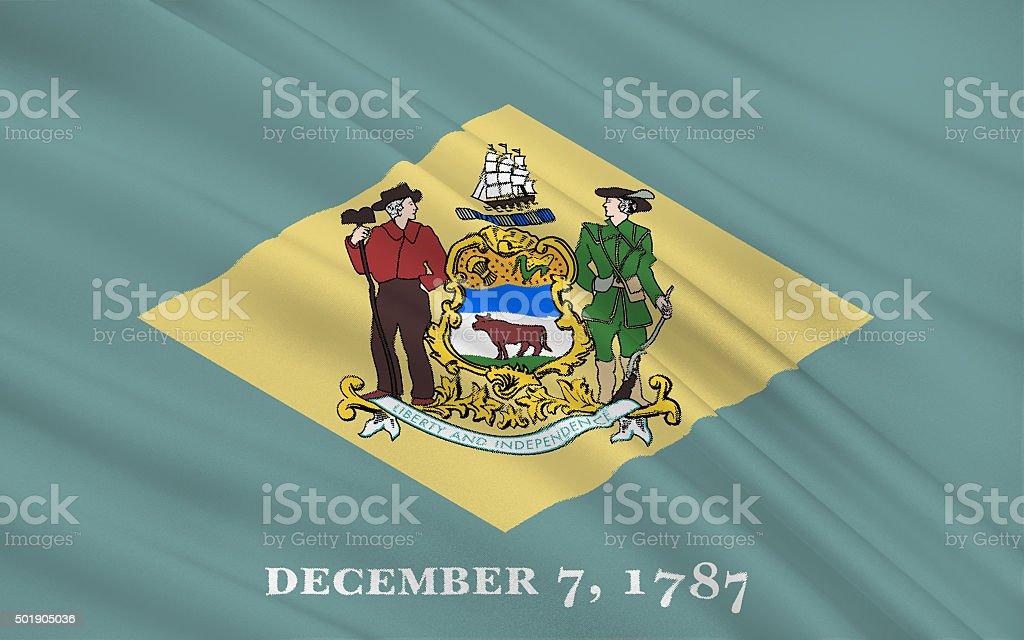 State Flag of Delaware stock photo