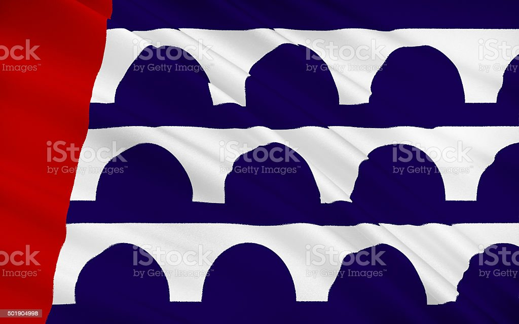 State Flag of Des Moines stock photo