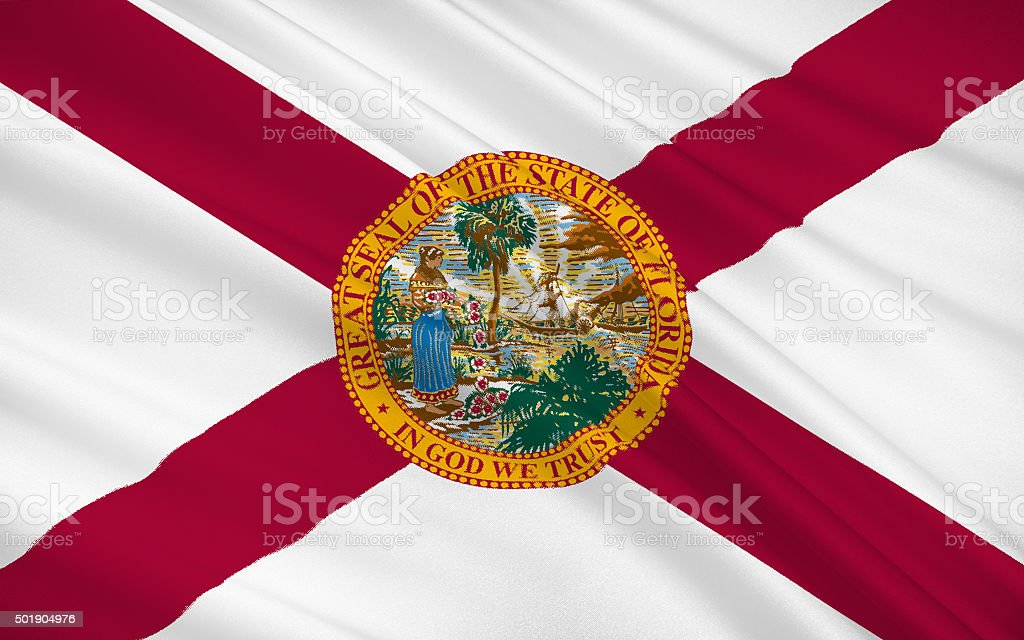 State Flag of Florida stock photo