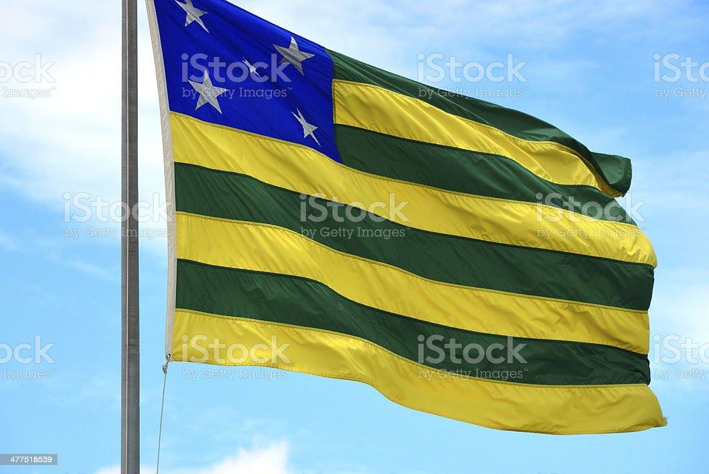 State flag of Goi?s - Brazil stock photo