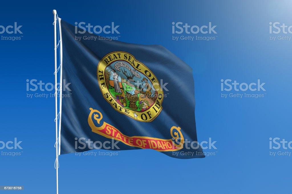 US state flag of Idaho stock photo