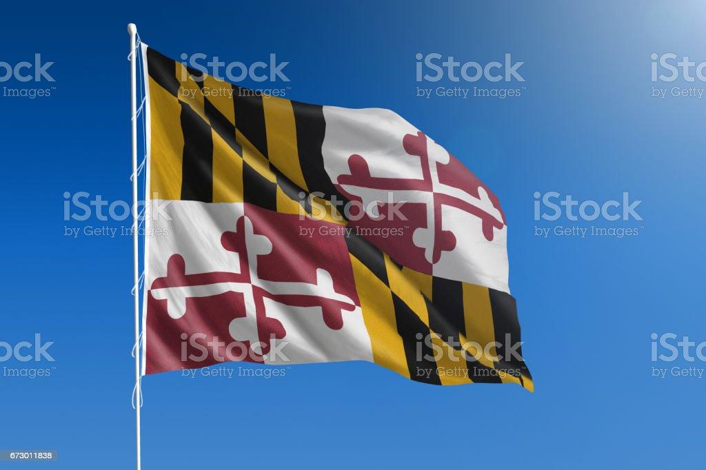 US state flag of Maryland stock photo