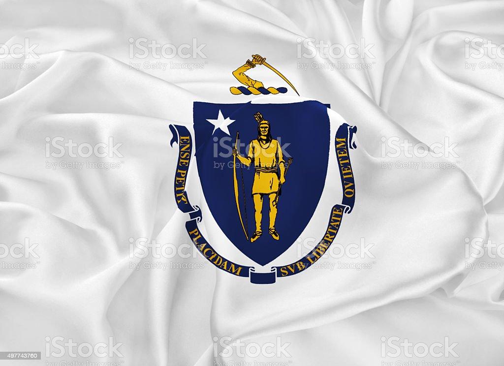 State Flag of Massachusetts stock photo