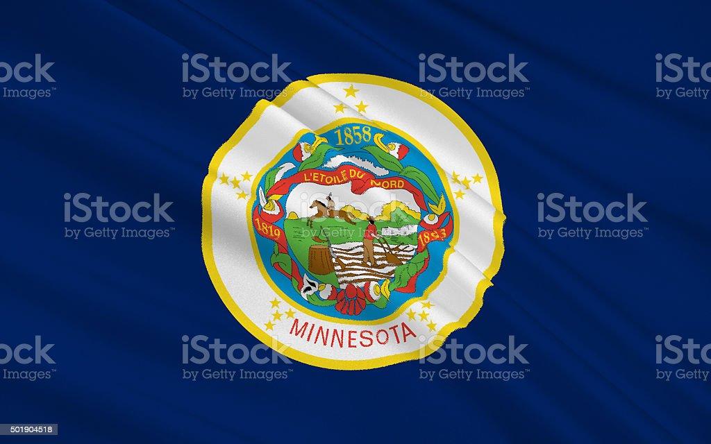 State Flag of Minnesota stock photo