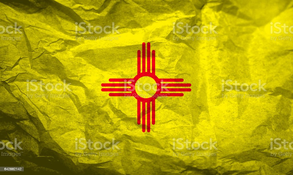US state flag of New Mexico stock photo