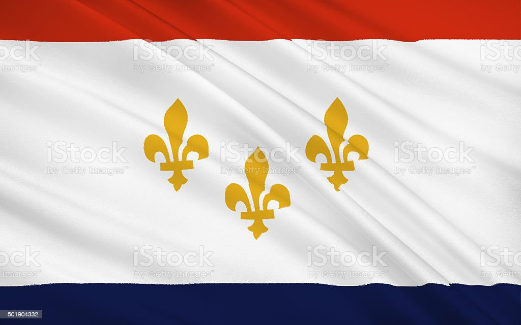 State Flag of New Orleans stock photo