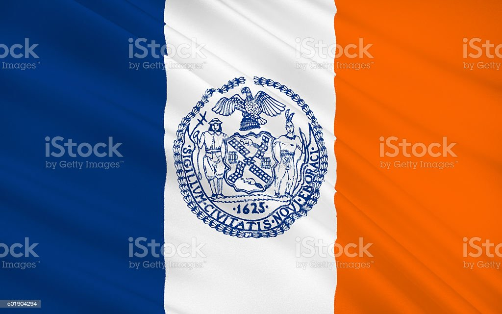 State Flag of New York City stock photo