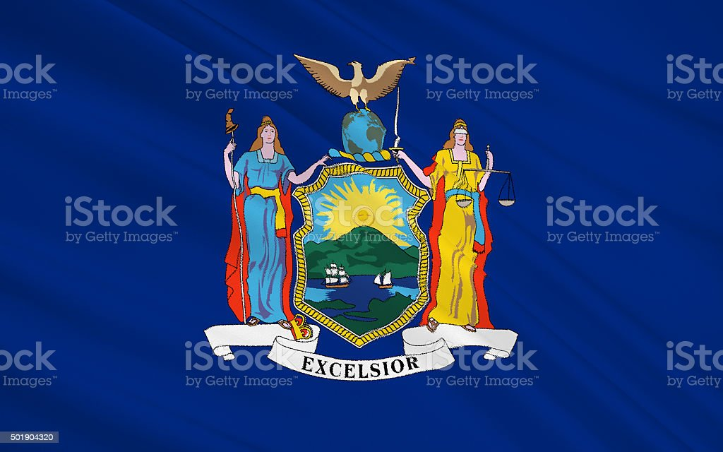 State Flag of New York stock photo