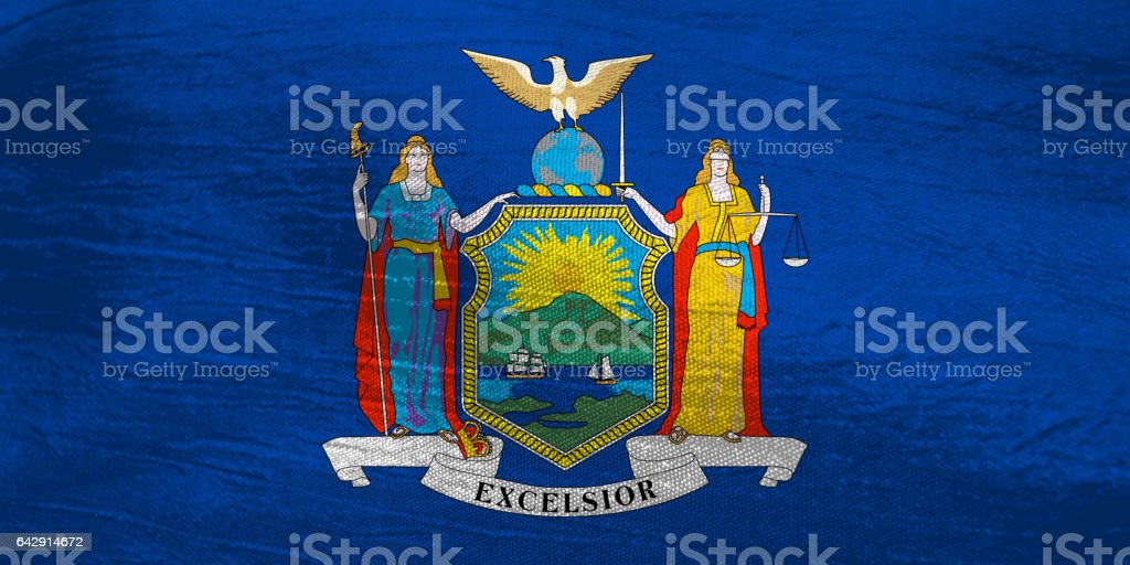 US state flag of New York stock photo