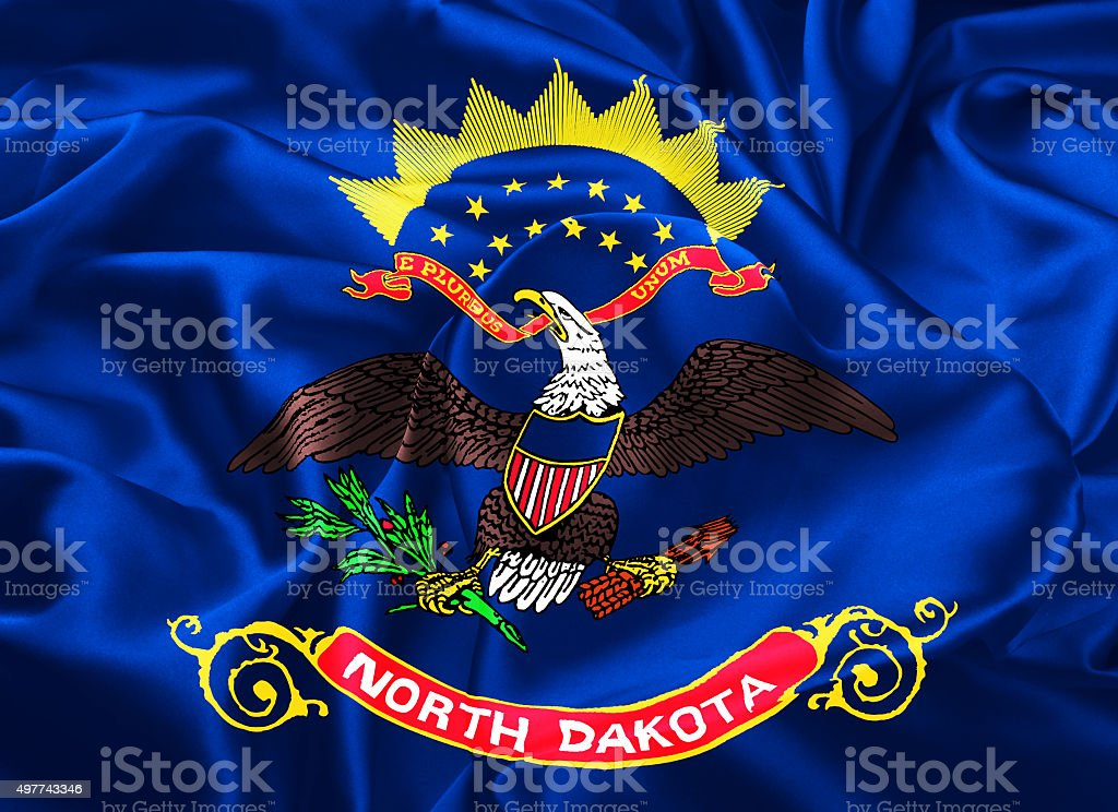State Flag of North Dakota vector art illustration