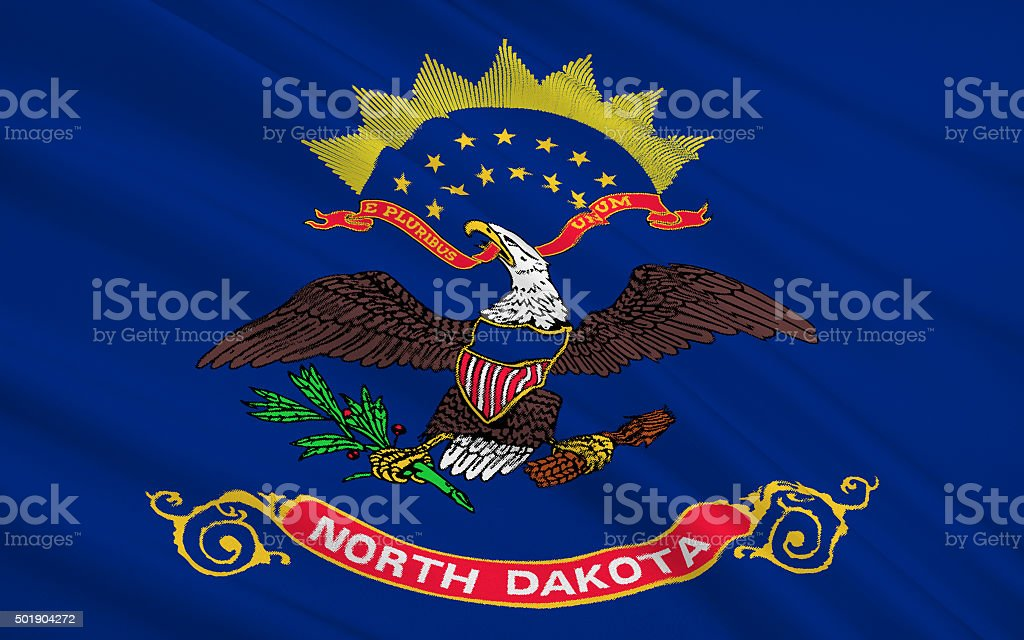 State Flag of North Dakota stock photo