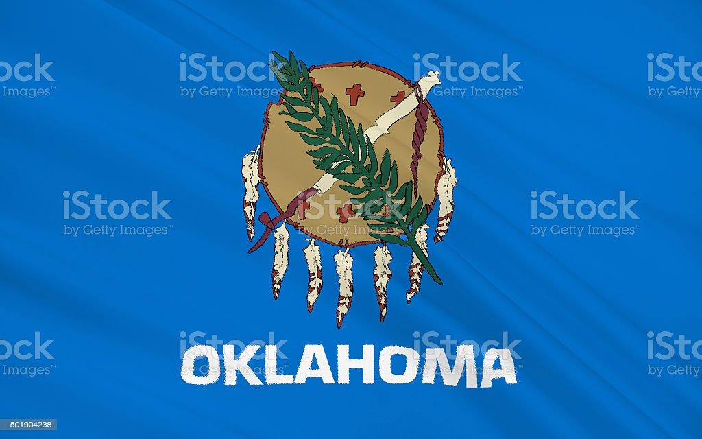 State Flag of Oklahoma stock photo