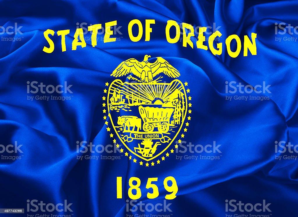 State Flag of Oregon stock photo