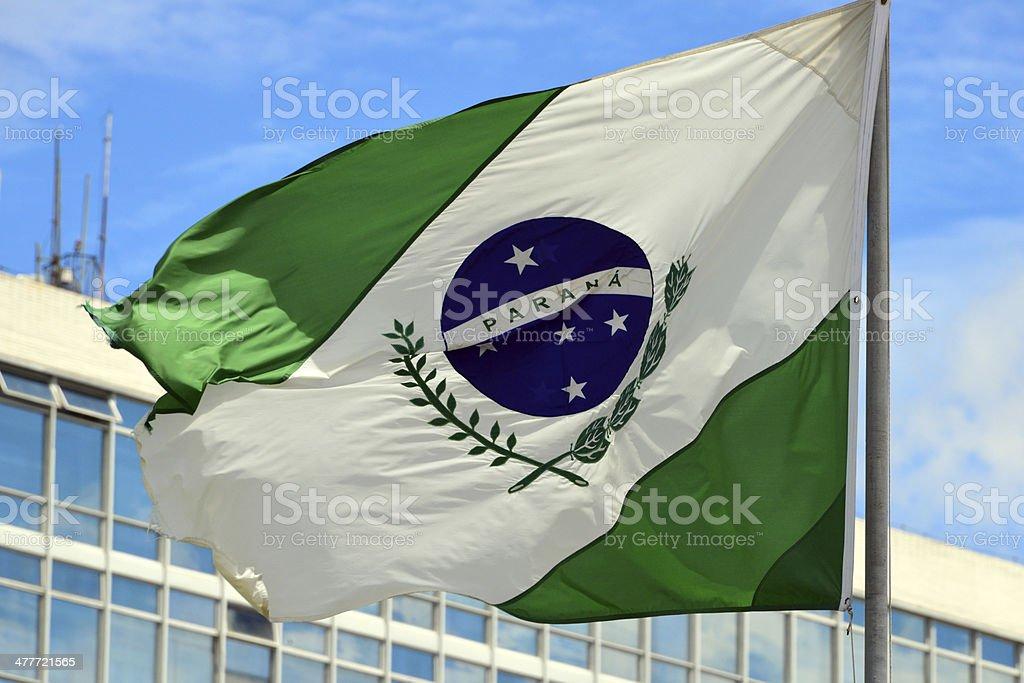 State flag of Paran? - Brazil stock photo