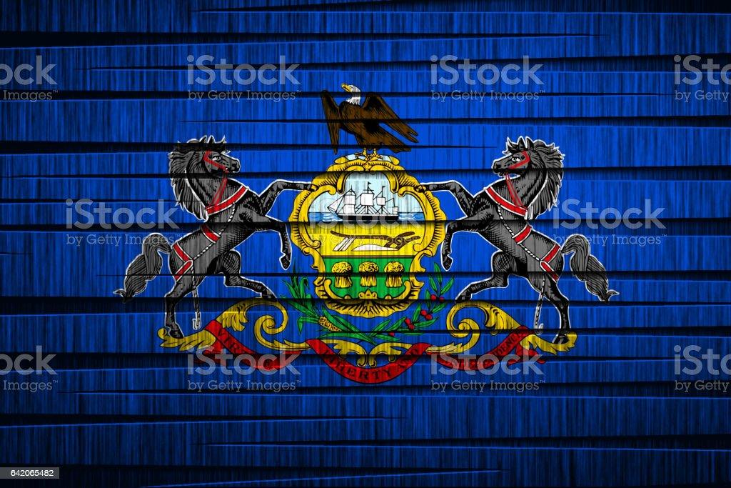 US state flag of Pennsylvania stock photo