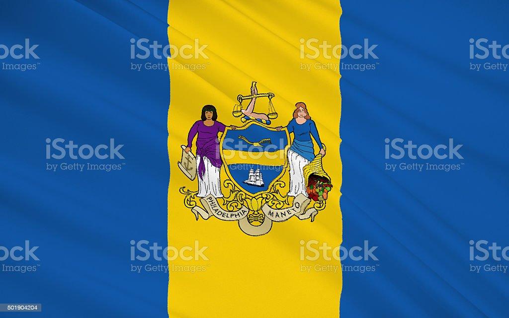 State Flag of Philadelphia stock photo