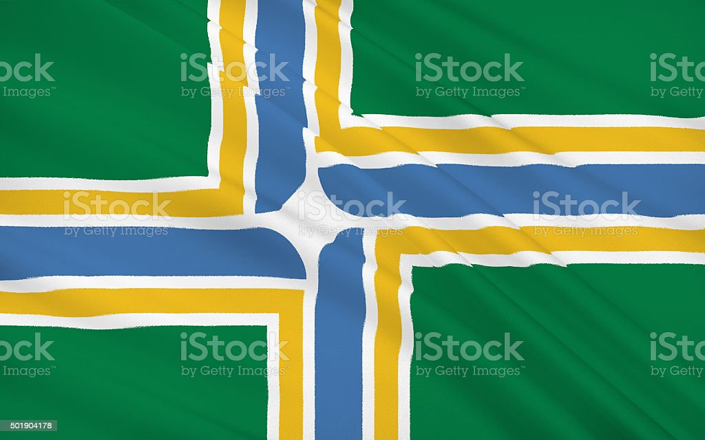 State Flag of Portland stock photo