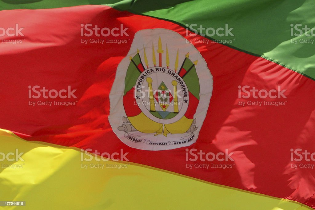 State flag of Rio Grande do Sul - Brazil stock photo