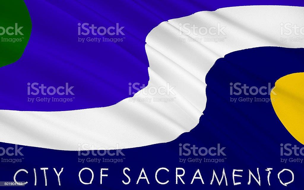 State Flag of Sacramento stock photo