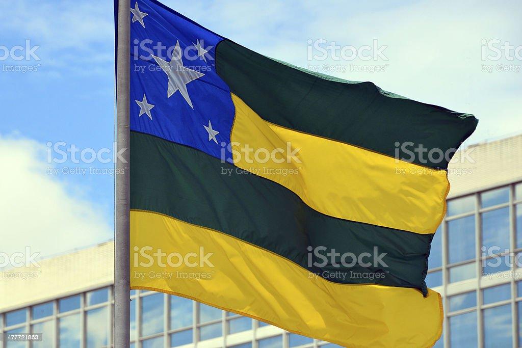 State flag of Sergipe - Brazil stock photo