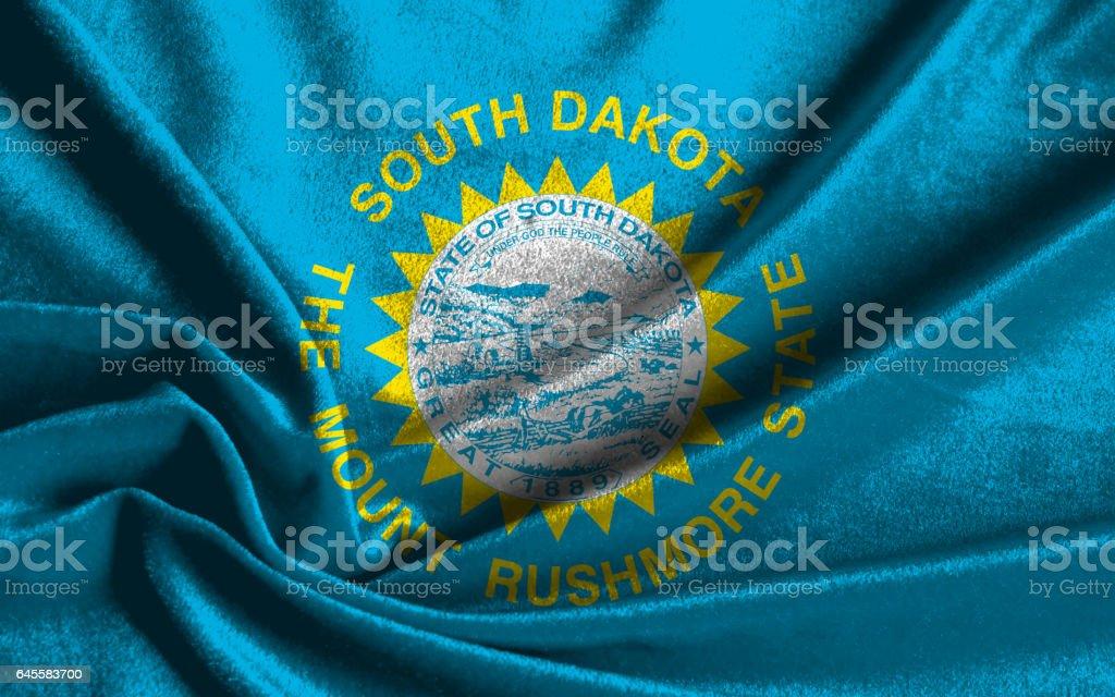 US state flag of South Dakota stock photo