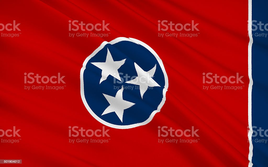 State Flag of Tennessee stock photo