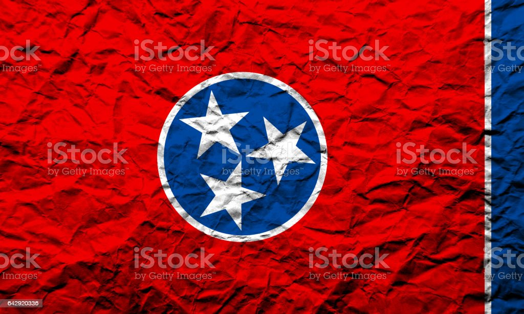 US state flag of Tennessee stock photo