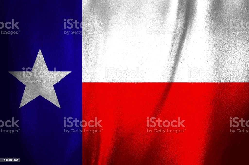 US state flag of Texas stock photo