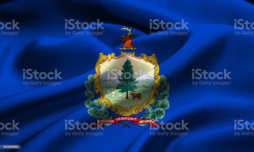 US state flag of Vermont stock photo