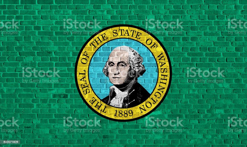 US state flag of Washington stock photo