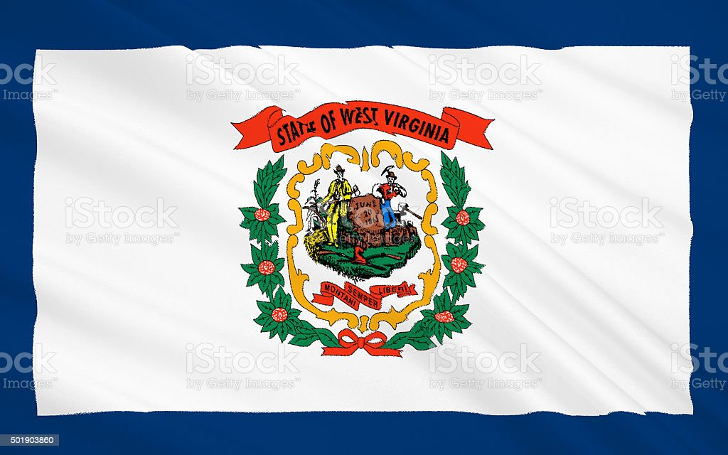 State Flag of West Virginia stock photo