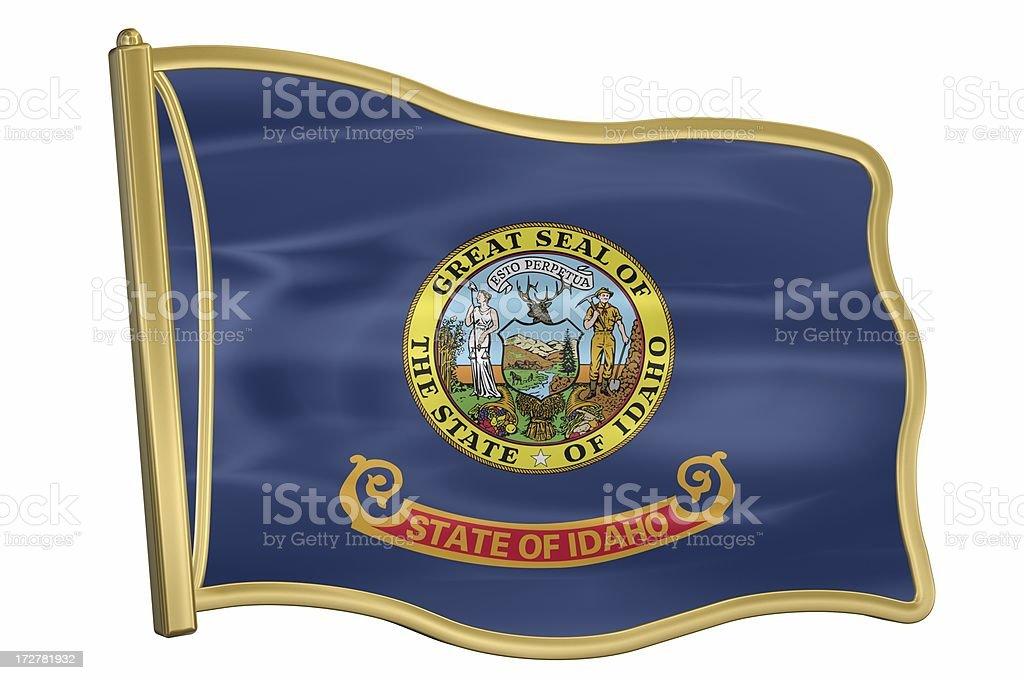US State Flag Pin - Idaho royalty-free stock photo