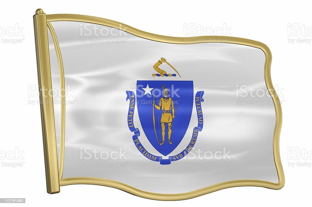 US State Flag Pin - Massachusetts stock photo